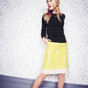 Boden Embroidered A Line Skirt